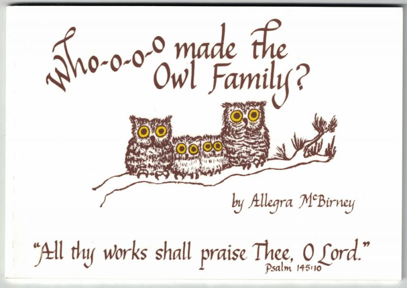 Who-o-o-o made the Owl Family?